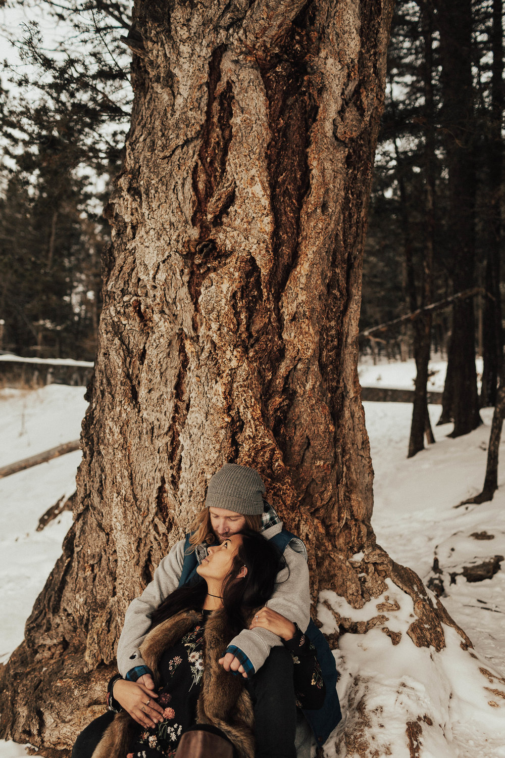 Banff Engagement Photographer - Winter Mountain Adventure Engagement Session - Michelle Larmand Photography-063