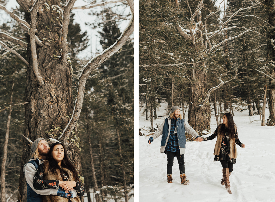 Banff Engagement Photographer - Winter Mountain Adventure Engagement Session - Michelle Larmand Photography-079