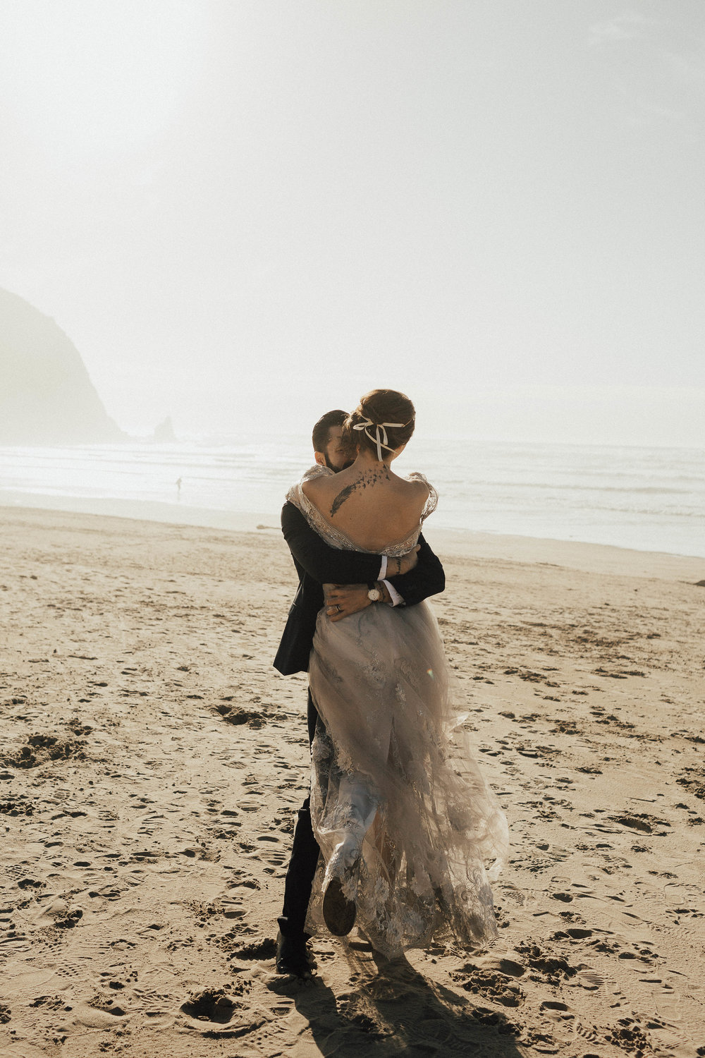 Cannon Beach Elopement - Michelle Larmand Photography - 037