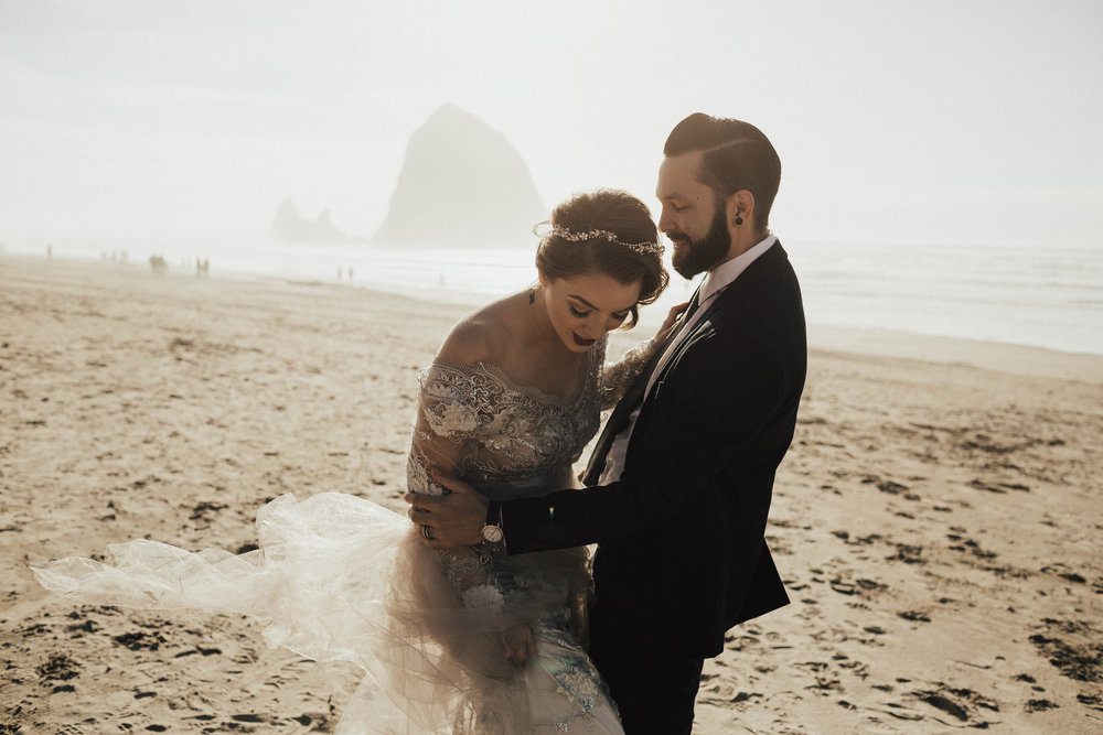Cannon Beach Elopement - Michelle Larmand Photography - 038