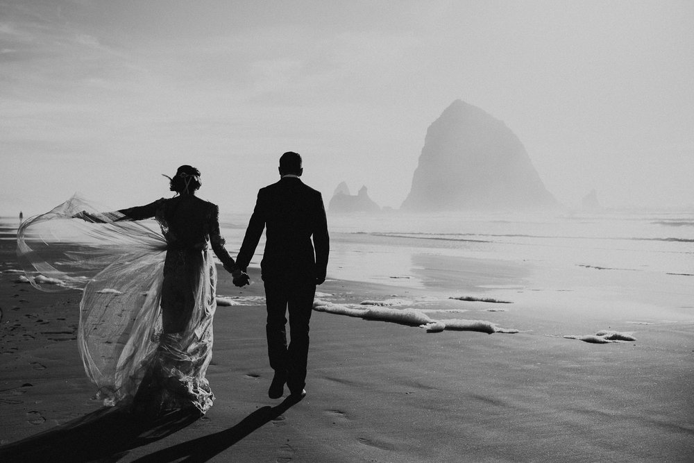Cannon Beach Elopement - Michelle Larmand Photography - 061