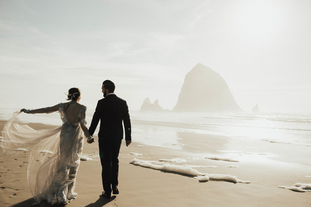 Cannon Beach Elopement - Michelle Larmand Photography - 062
