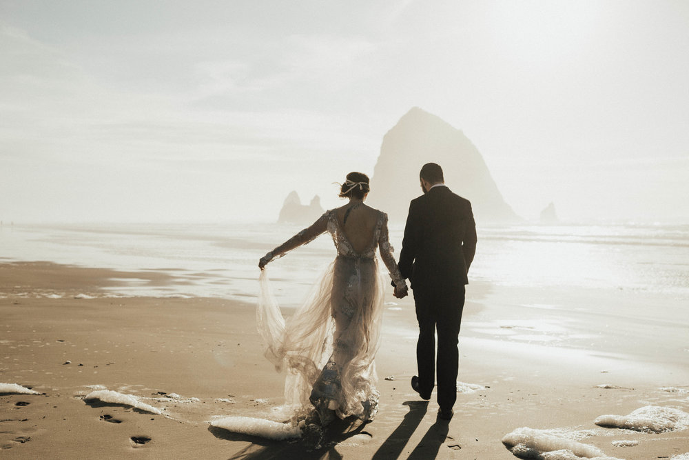 Cannon Beach Elopement - Michelle Larmand Photography - 063