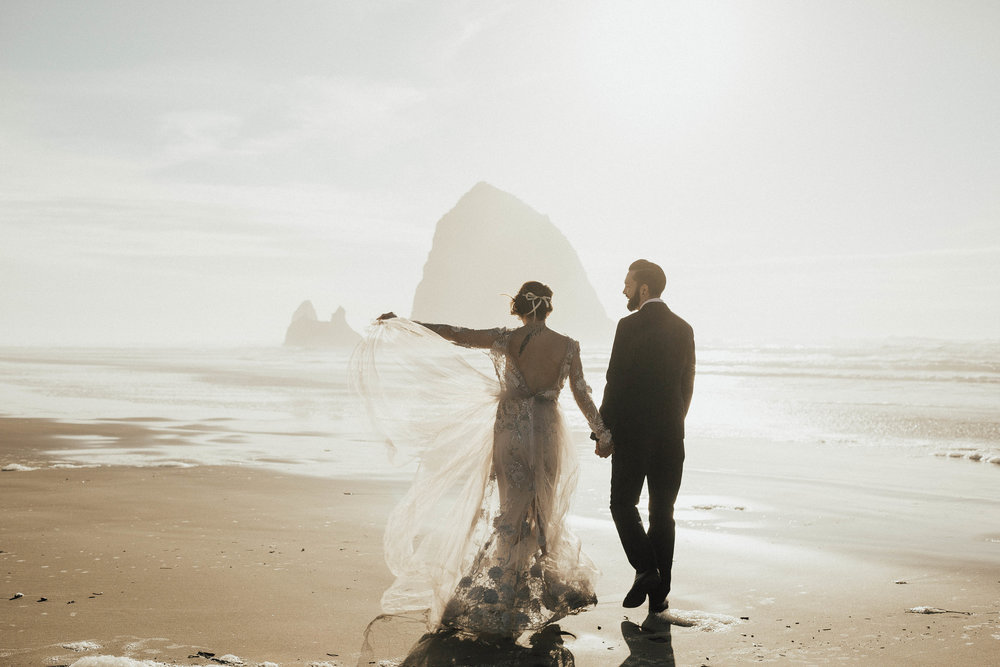 Cannon Beach Elopement - Michelle Larmand Photography - 064
