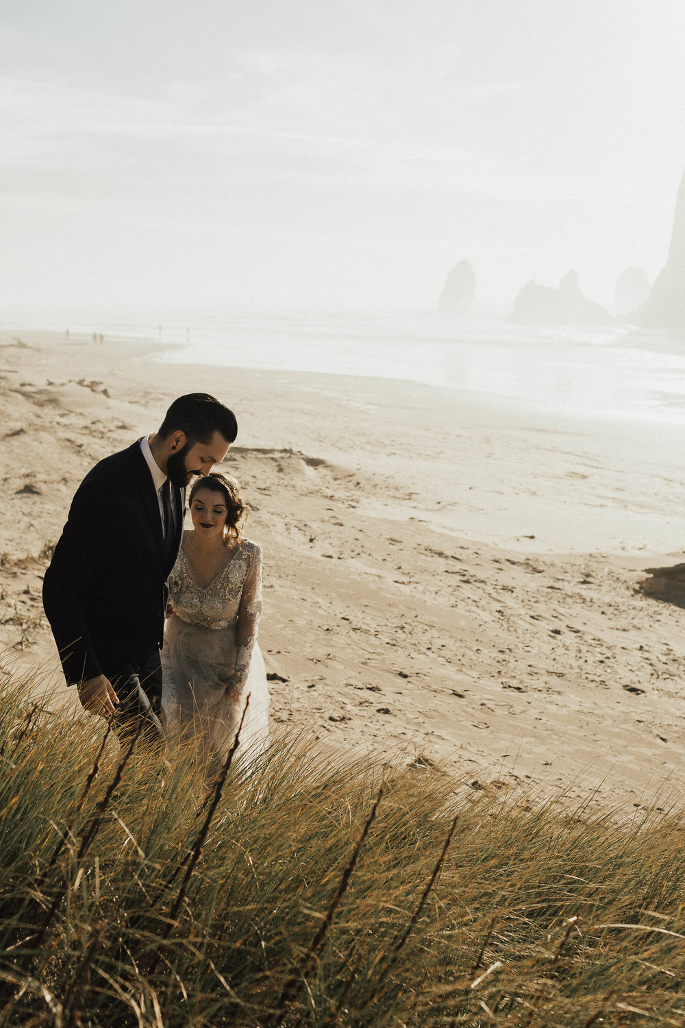Cannon Beach Elopement - Michelle Larmand Photography - 068