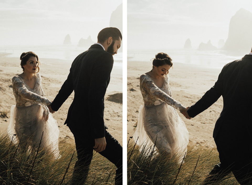 Cannon Beach Elopement - Michelle Larmand Photography - 069