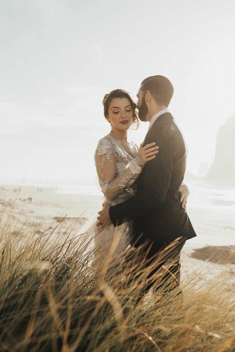 Cannon Beach Elopement - Michelle Larmand Photography - 072