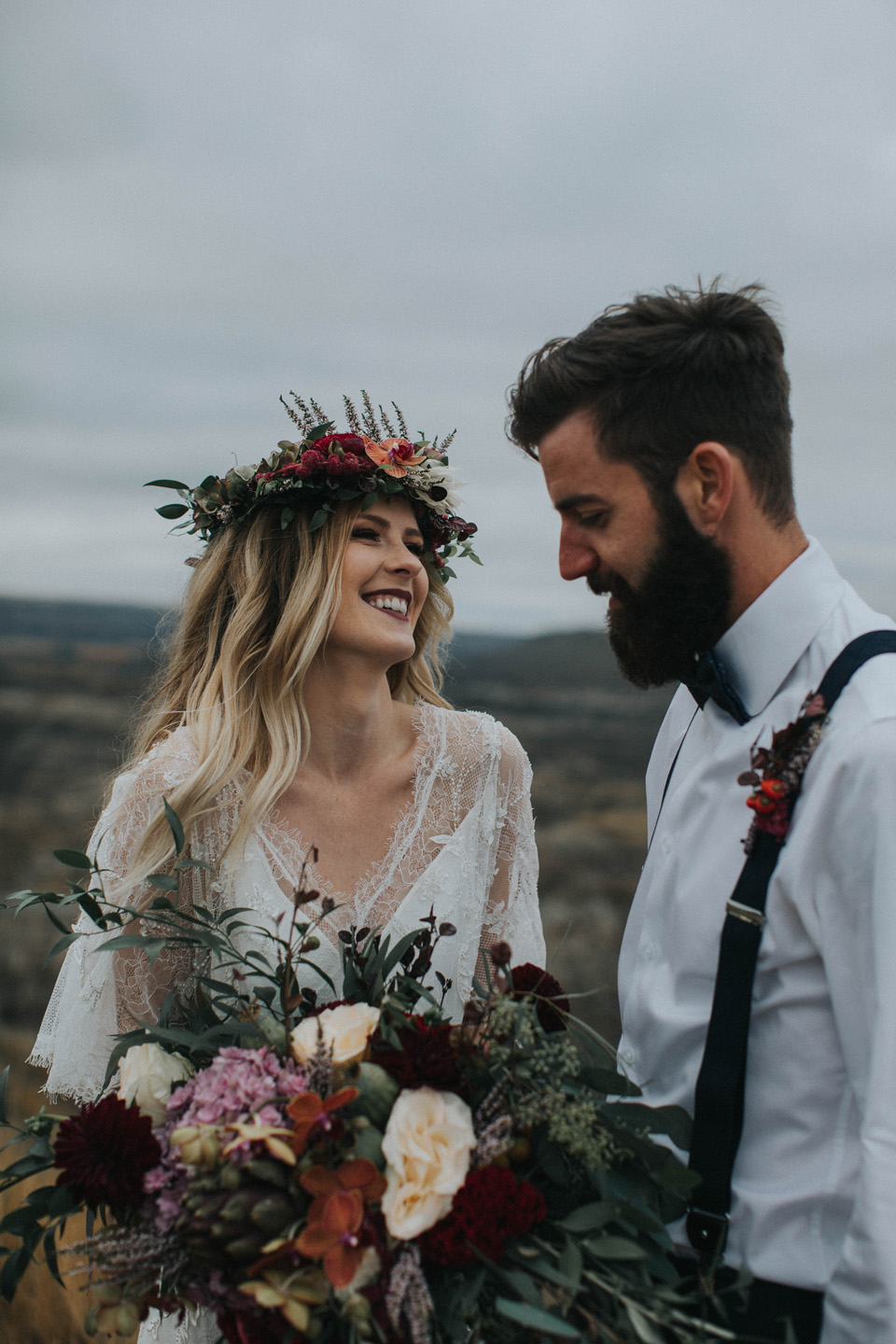 Drumheller Vow Renewal Elopement - Michelle Larmand Photography025