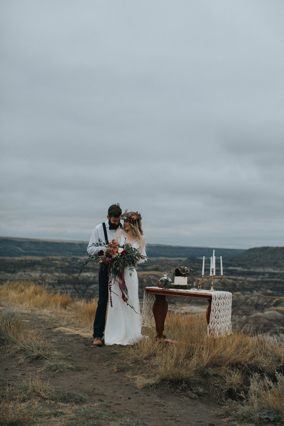 Drumheller Vow Renewal Elopement - Michelle Larmand Photography027