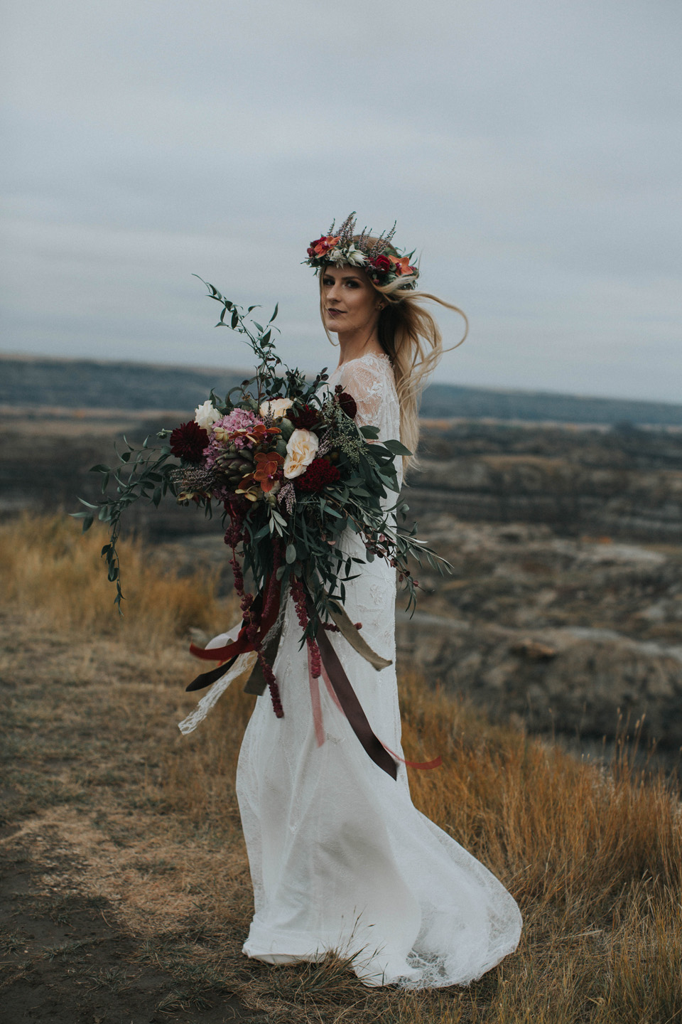 Drumheller Vow Renewal Elopement - Michelle Larmand Photography072