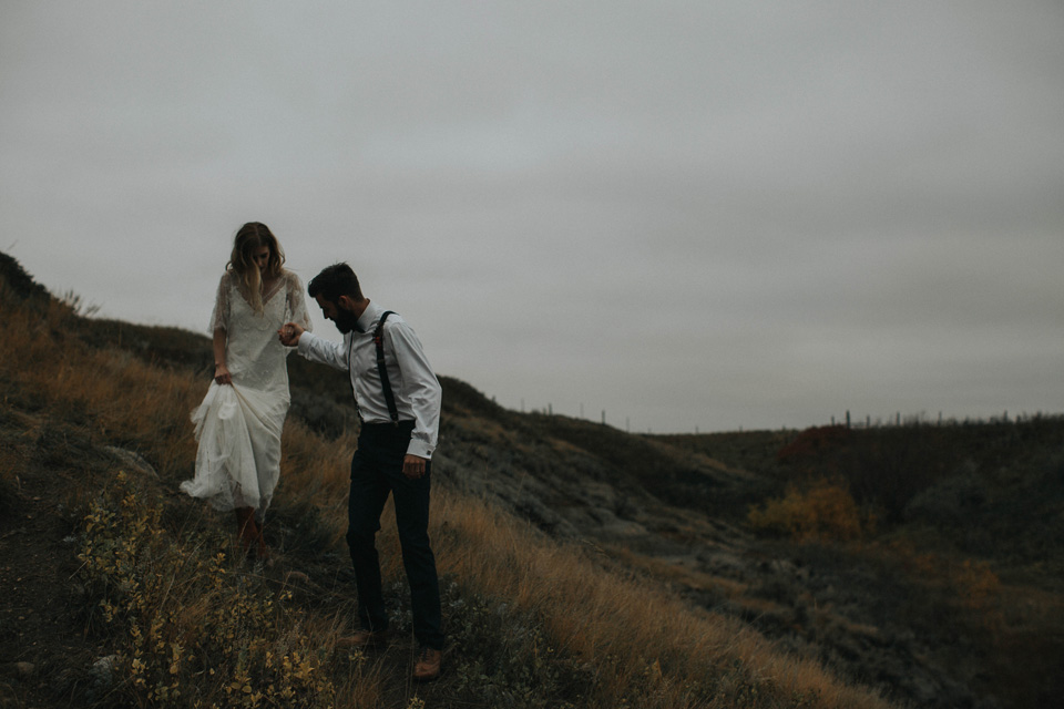 Drumheller Vow Renewal Elopement - Michelle Larmand Photography078