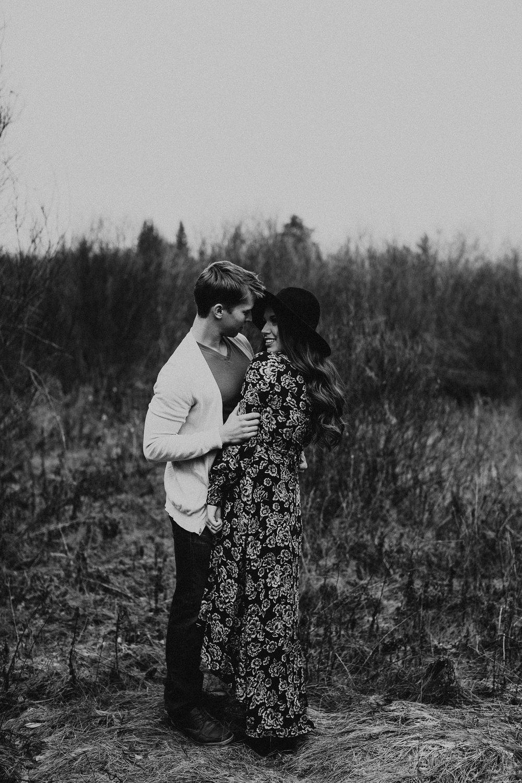 Edmonton Engagement Photographer - Michelle Larmand Photography - Mossy woods engagement session007