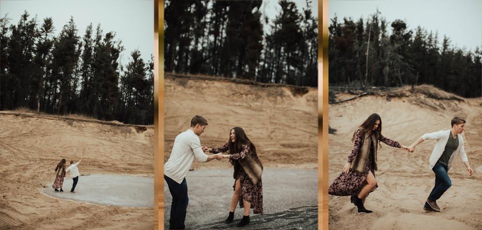 Edmonton Engagement Photographer - Michelle Larmand Photography - Mossy woods engagement session075