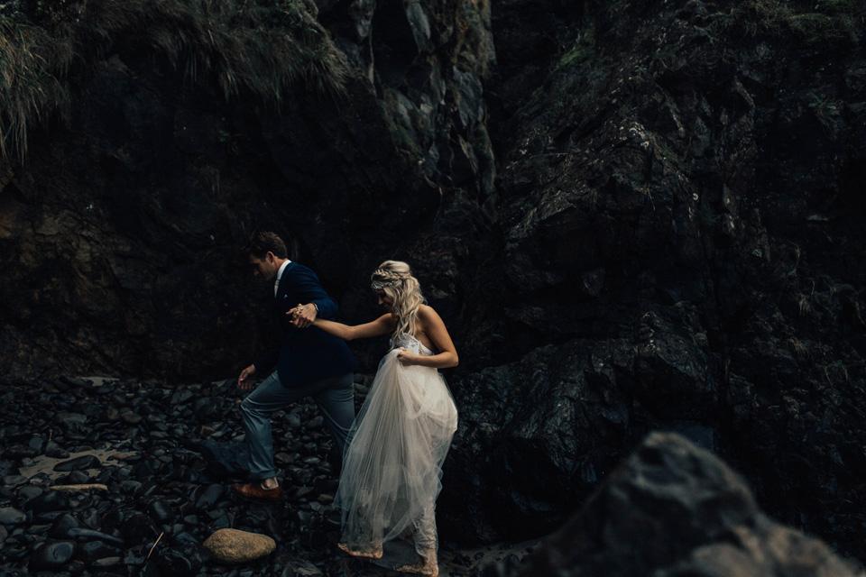Hug Point Oregon Elopement - Michelle Larmand Photography -032