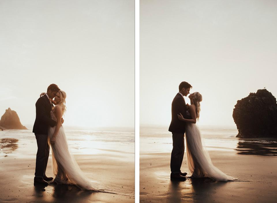 Hug Point Oregon Elopement - Michelle Larmand Photography -045