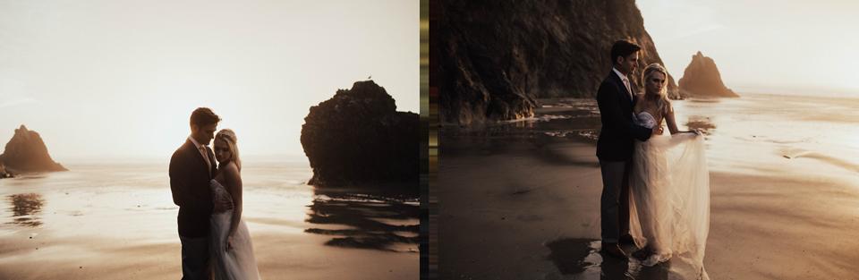 Hug Point Oregon Elopement - Michelle Larmand Photography -048