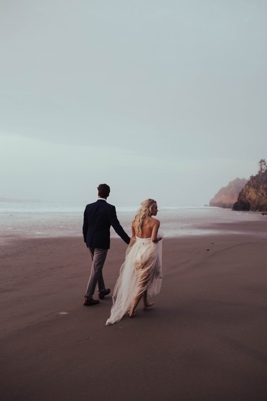 Hug Point Oregon Elopement - Michelle Larmand Photography -067