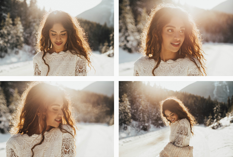 Winter Mountain Bohemain Bridal Inspiration - Michelle Larmand Photography - Banff Wedding Photography -009