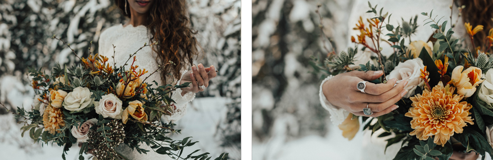 Winter Mountain Bohemain Bridal Inspiration - Michelle Larmand Photography - Banff Wedding Photography -027