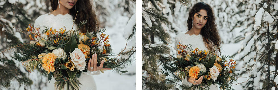 Winter Mountain Bohemain Bridal Inspiration - Michelle Larmand Photography - Banff Wedding Photography -030
