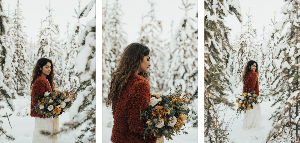 Winter Mountain Bohemain Bridal Inspiration - Michelle Larmand Photography - Banff Wedding Photography -031