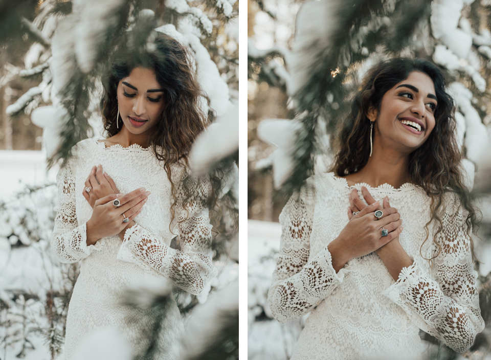 Winter Mountain Bohemain Bridal Inspiration - Michelle Larmand Photography - Banff Wedding Photography -036