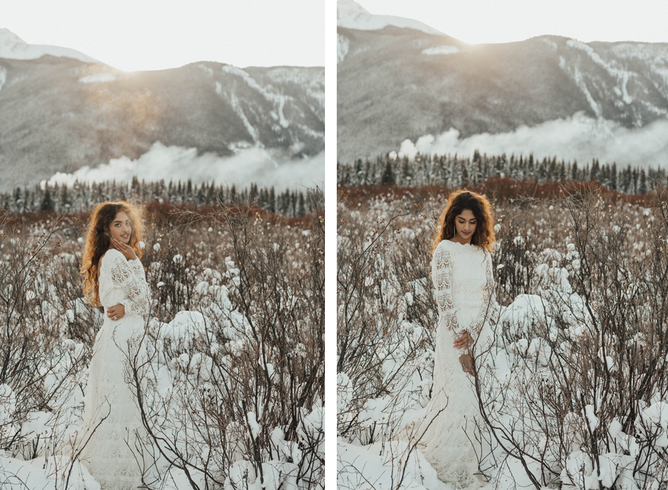 Winter Mountain Bohemain Bridal Inspiration - Michelle Larmand Photography - Banff Wedding Photography -042