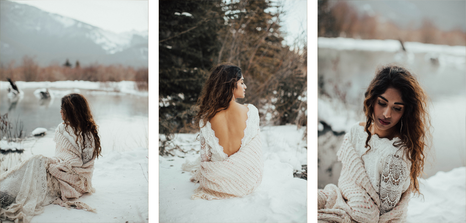 Winter Mountain Bohemain Bridal Inspiration - Michelle Larmand Photography - Banff Wedding Photography -065