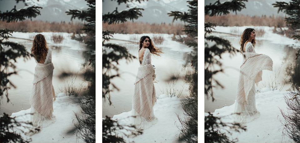 Winter Mountain Bohemain Bridal Inspiration - Michelle Larmand Photography - Banff Wedding Photography -073