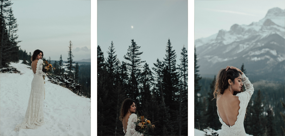 Winter Mountain Bohemain Bridal Inspiration - Michelle Larmand Photography - Banff Wedding Photography -082