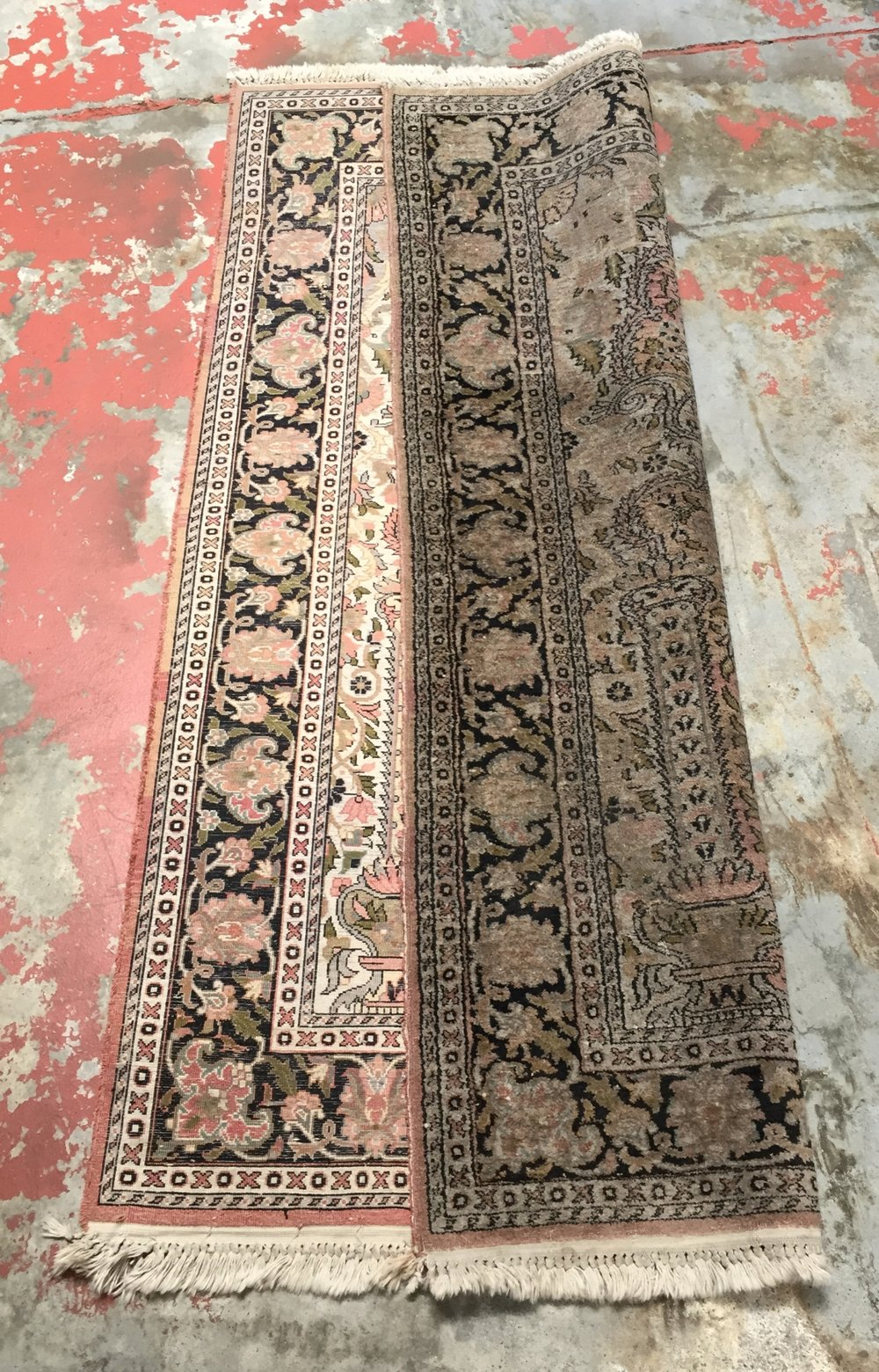 Kashmir Rug Before Cleaning