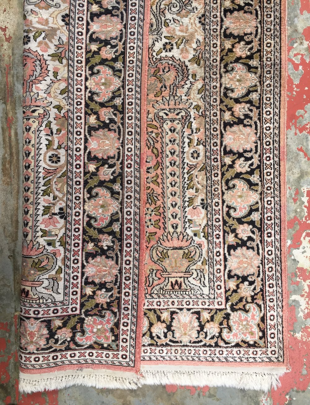 Kashmir Rug After Cleaning
