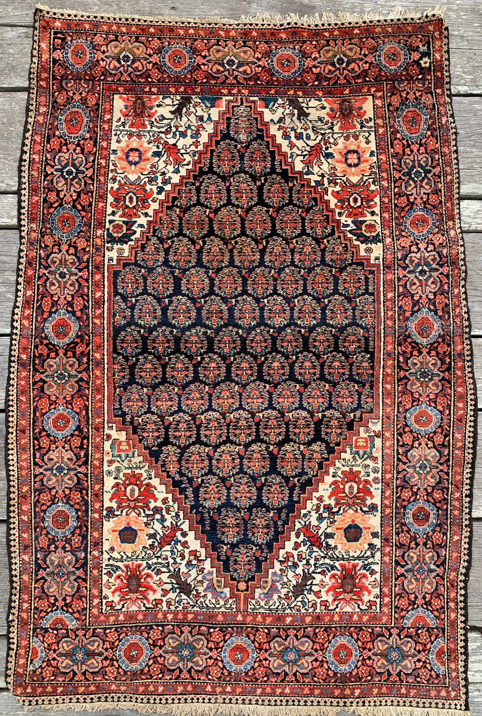 Steelman Rugs Antique Persian Malayer Rug 4 1 X 6 4