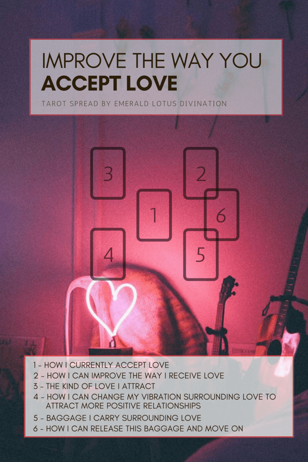Improve the Way You Accept Love - I am a firm believer that the vibration we emit (our feelings and emotions) attract what we receive in life. If we're down, sad, depressed – negative responses from the universe will come to us. If we're positive, happy, inspired – positive responses from the universe will come to us. Same goes for love and relationships. We need to be able to meet the relationship we desire vibrationally – how will a healthy relationship appear if we aren't taking care of ourselves?Want to learn how to accept love in a healthy, meaningful and positive way? Book a Reading!