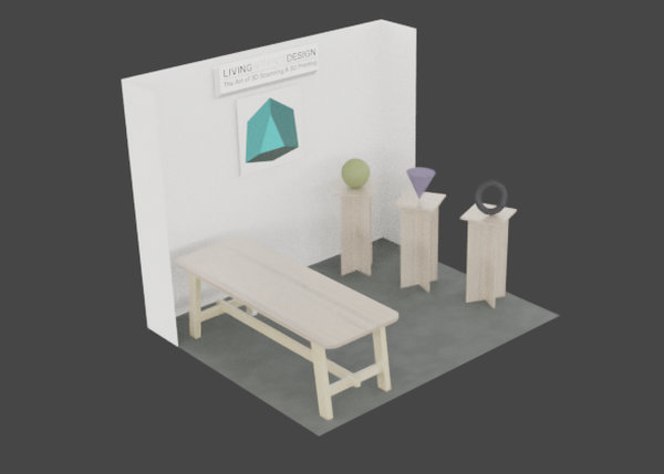 3D render of exhibition booth