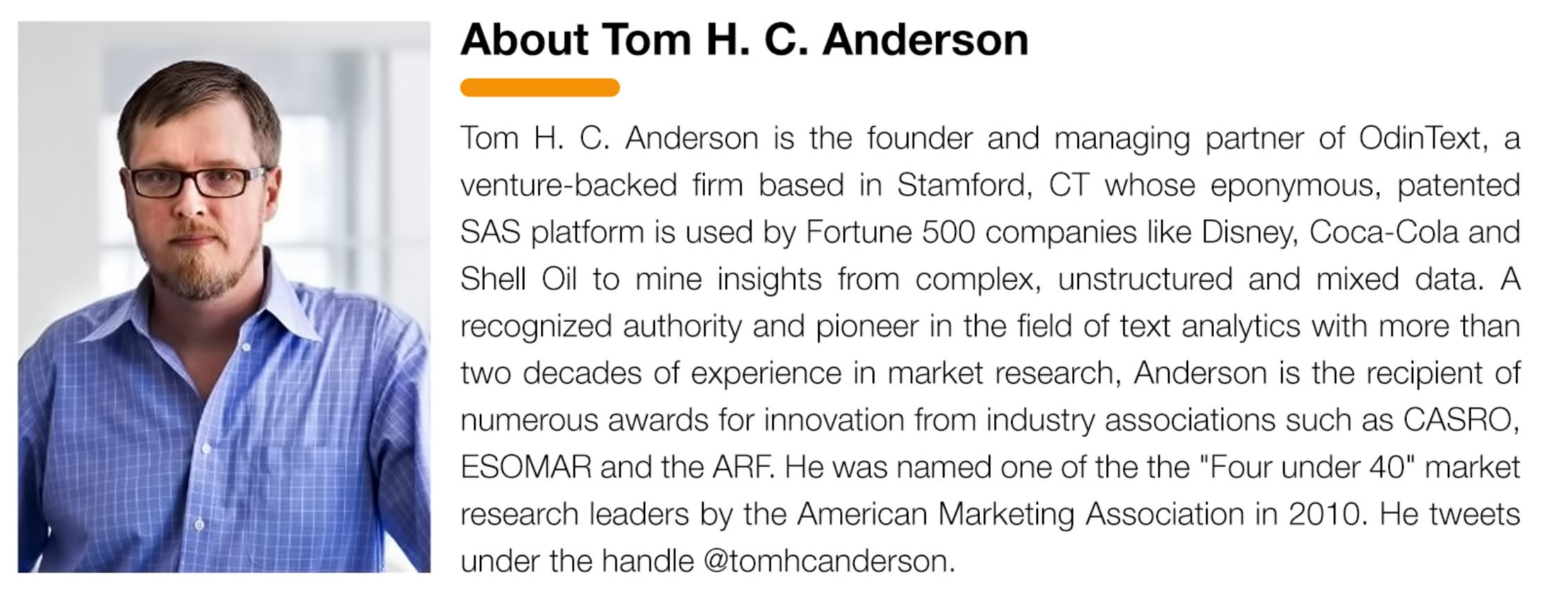 Text Analytics Software Tom H C Anderson