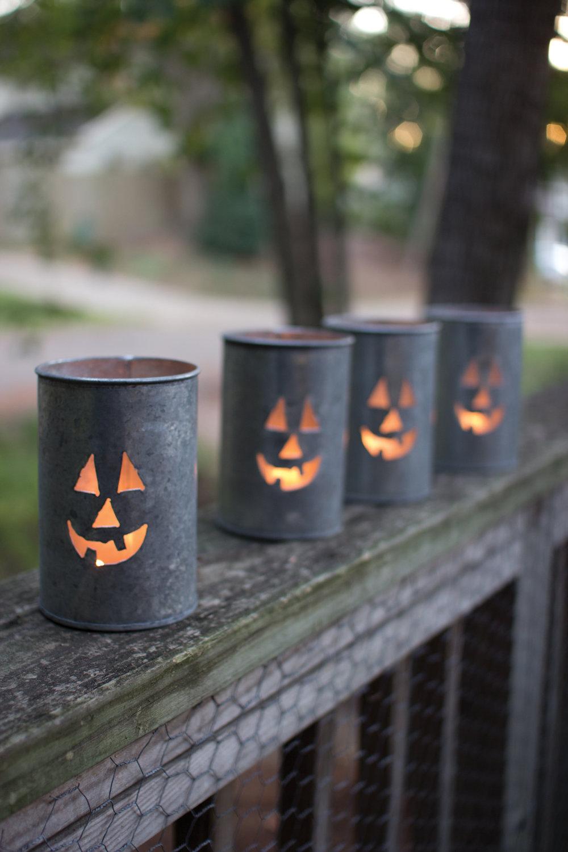Jack-O-Lantern Tin Luminaries