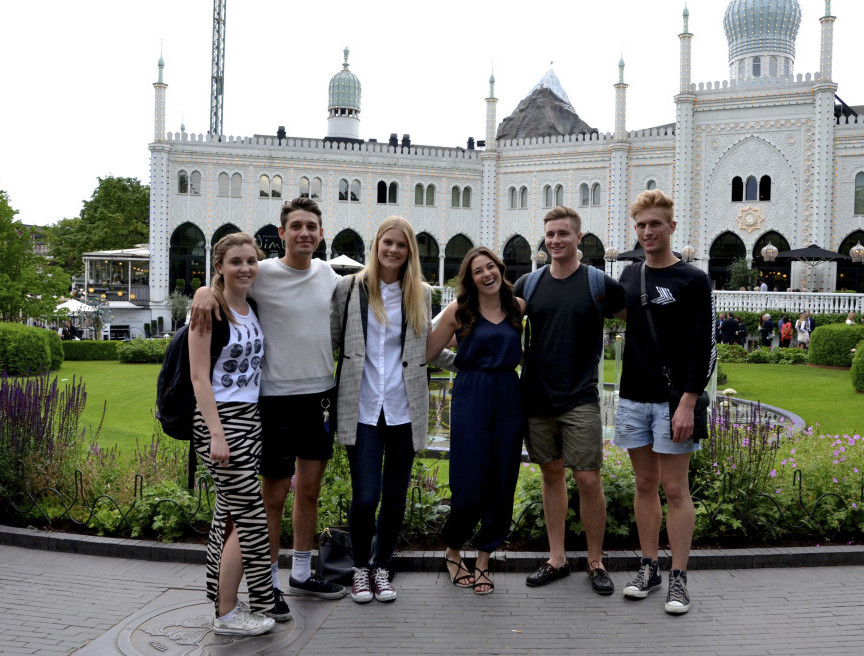 Canadians + Danes at Tivoli