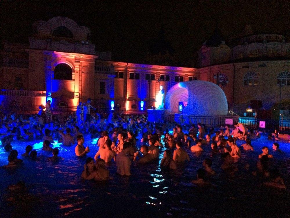Szechenyi Baths by night