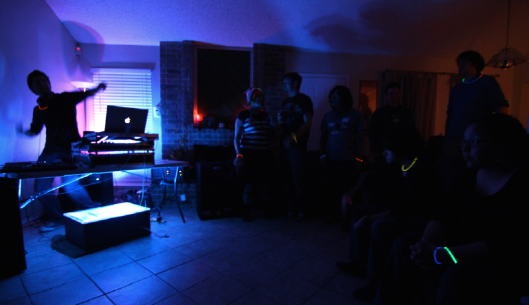 "Phillip James debuting his first single, ""Cake is Gone"" at a party in December 2011."