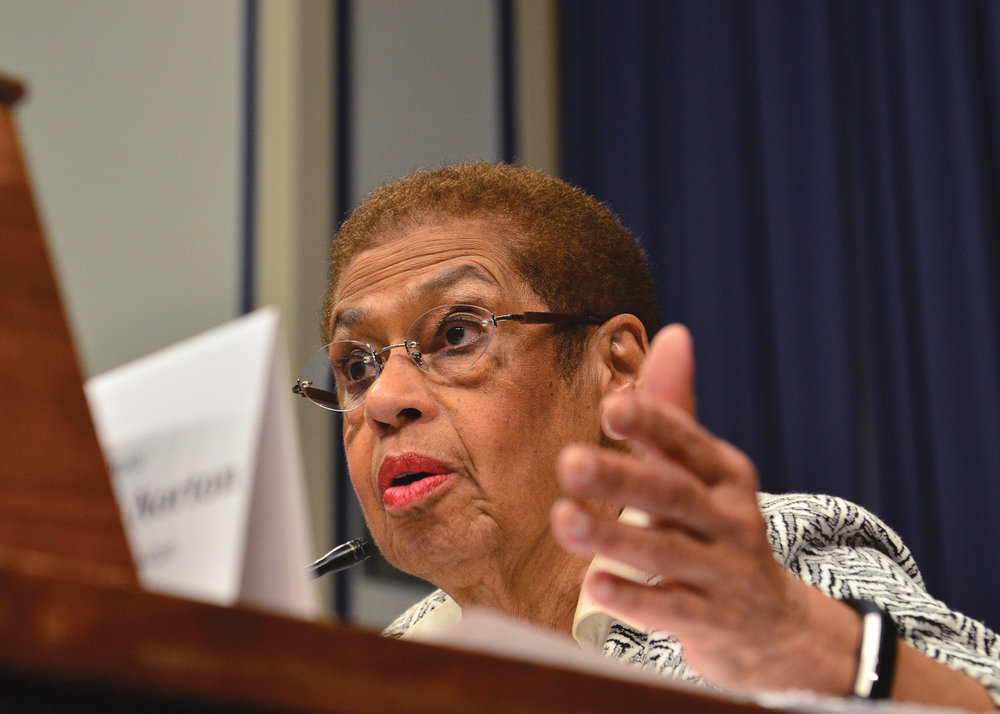 Longtime D.C. delegate Rep. Eleanor Holmes Norton said that she would work with the NNPA and the NAHP to pressure Congress to demand greater federal advertising spending with minority-owned publishers. (Freddie Allen/AMG/NNPA)
