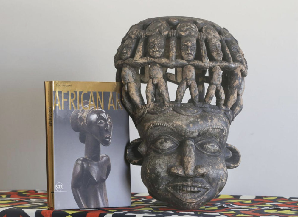 "A book on African art and a mask from the Bamileke ethnic group in Cameroon are part of a collection by Bakari Sanyu that will be on display at the ""Sankofa Heartbeats: African Artifacts in Diasporal Culture"" on Aug. 2 at the Dr. Martin Luther King Jr. Community Center."
