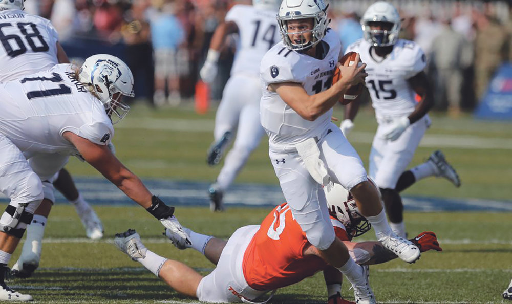 Blake Larussa of Old dominion in action against Va. Tech. (AP photo)