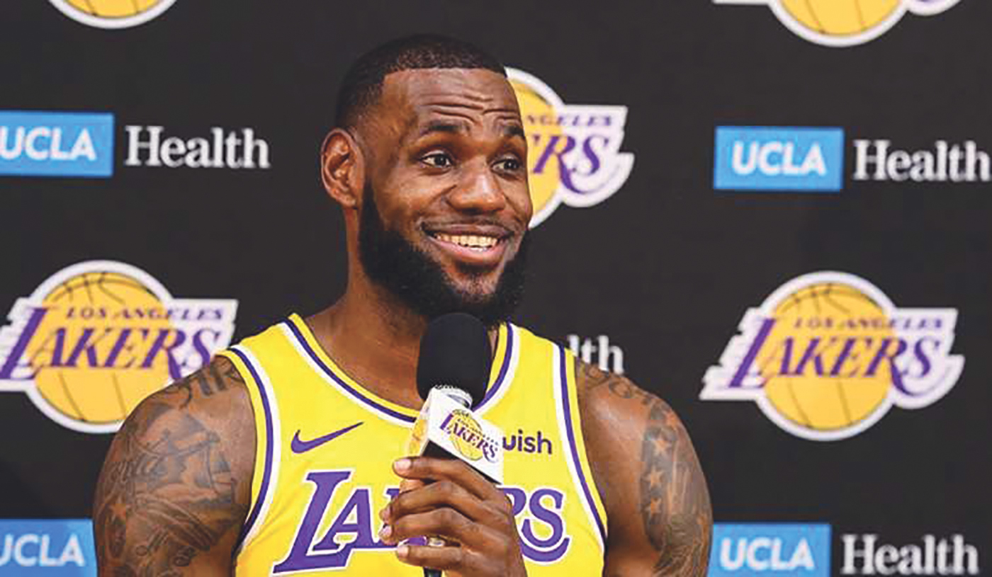 c404b7660c4 LeBron James speaks at Lakers 2018 media day. (Photo  Ryan Young- LA