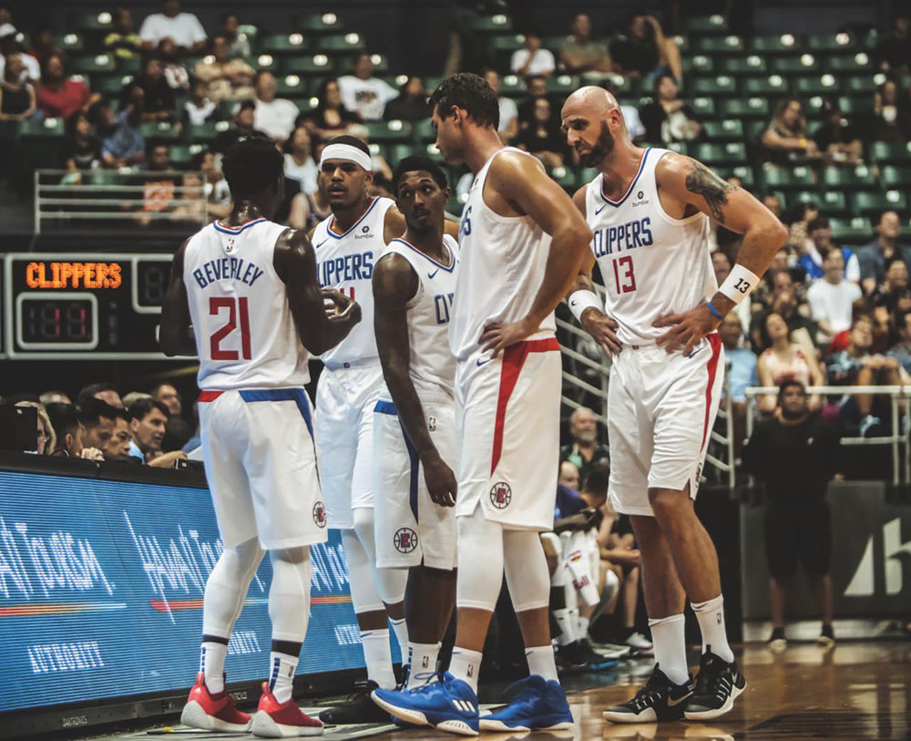 Clippers take the court in Hawaii for Pre-Season. (Clippers.com)