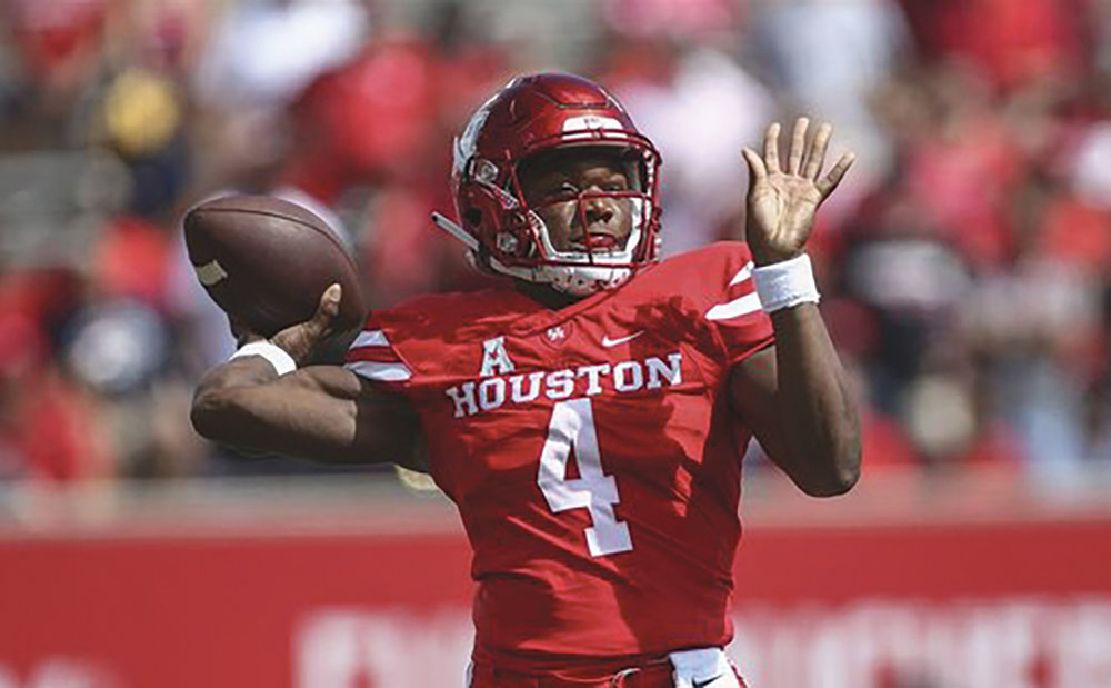 U of Houston QB E'riq King has thrown for more than 2400 yards and 28 touchdowns. (Courtesy Photo)