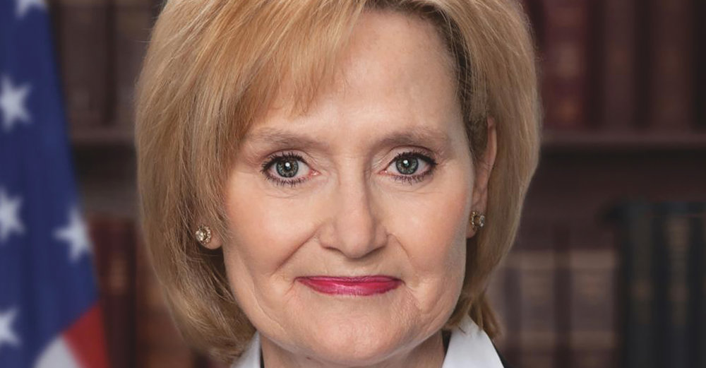 """If he invited me to a public hanging, I'd be on the front row""- Sen. Cindy Hyde-Smith says in Tupelo, MS after Colin Hutchinson, cattle rancher, praises her. U.S. Senate candidate Mike Espy will head to a runoff against incumbent Republican Hyde-Smith on Nov. 27. (Photo: Official Senate Photo / Wikimedia Commons)"