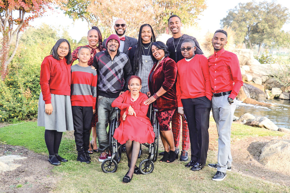 Marie Sturdivant with members of her family. (Carrington Prichett photo)