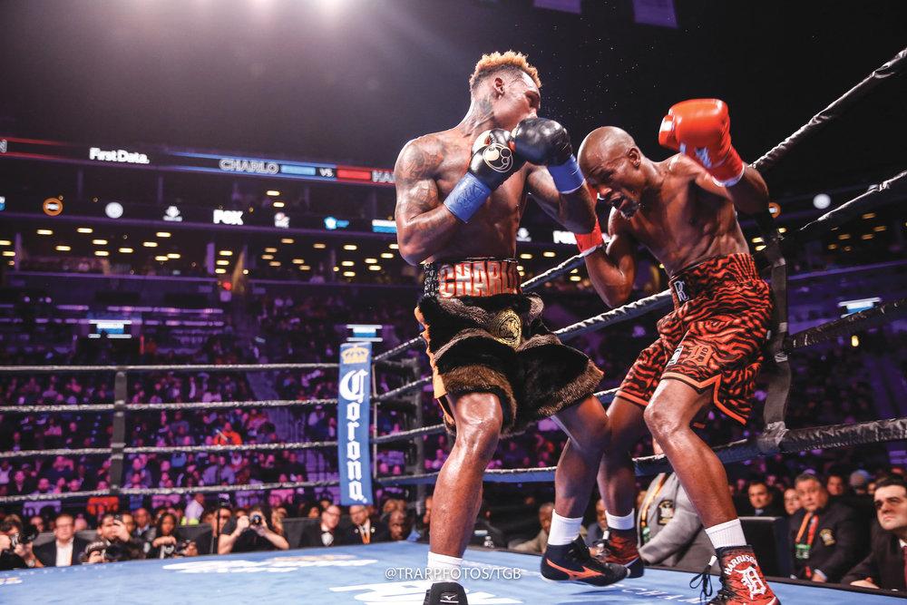 Jermell Charlo vs Tony Harrison fight. (Stephanie Trapp/TGB Promotions photo credit)