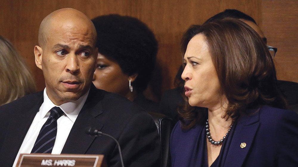 The effort was led by Democratic senators Cory Booker of New Jersey and Kamala Harris of California (Source: Twitter.com)